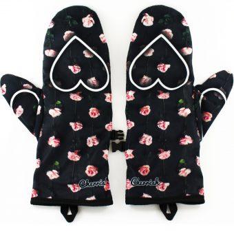 Rękawiczki zimowe CHERRISH Serduszka Róże