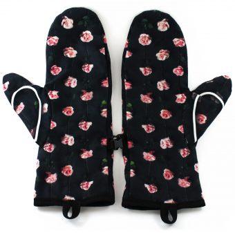 Rękawiczki zimowe CHERRISH Serduszka Róże Wnętrze