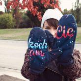 Rękawiczki zimowe CHERRISH Kocham Cię Ręka