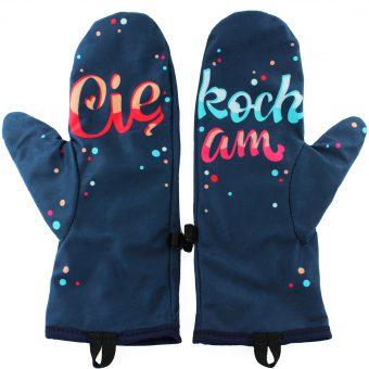 Rękawiczki zimowe CHERRISH Kocham Cię Wnętrze