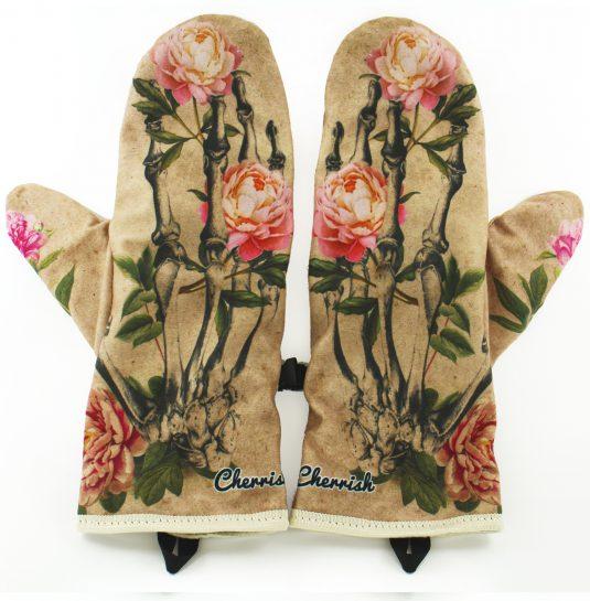 Rękawiczki zimowe CHERRISH Kwiaty Kości