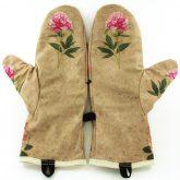 Rękawiczki zimowe CHERRISH Kwiaty Kości Wnętrze