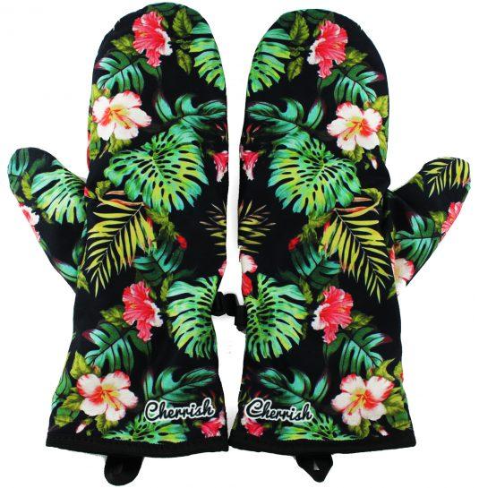 Rękawiczki zimowe CHERRISH Kwiaty Tropiki