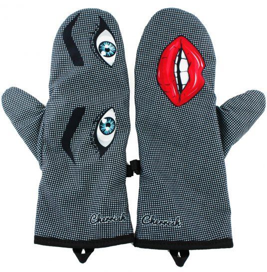 Rękawiczki zimowe CHERRISH Oczy Usta Wąsy