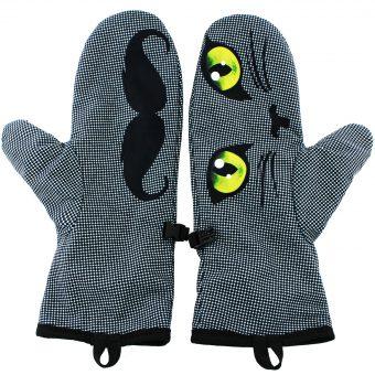 Rękawiczki zimowe CHERRISH Oczy Usta Wąsy Wnętrze