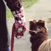 Rękawiczki zimowe CHERRISH Różowe Kwiaty Ręka