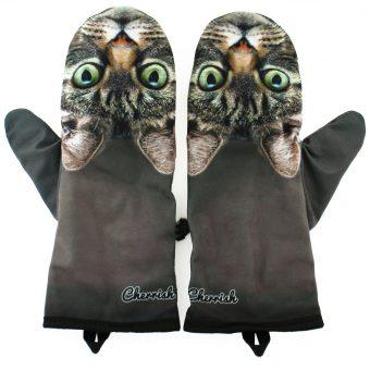 Rękawiczki zimowe CHERRISH Szary Kot
