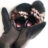 Rękawiczki zimowe CHERRISH Szary Kot dłonie