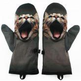 Rękawiczki zimowe CHERRISH Szary Kot Wnętrze