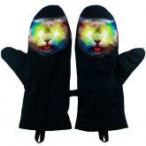 wewnatrz rękawiczki tęczowy kot