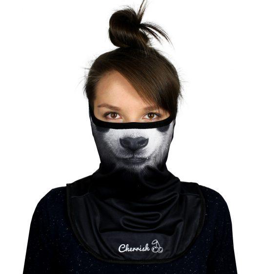 komin-panda-cherrish-przod-maska