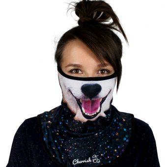 komin-pies-cherrish-przod-maska