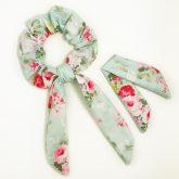 scrunchie-frotka-cherrish-mietowe-kwiaty