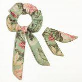 scrunchie-frotka-cherrish-zielone-kwiaty